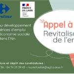 "Visuel annonçant l'appel à projet ""revitalisation de l'emploi"" de l'AGLCA"