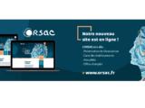 Bandeau annoncant le nouveau site web de l'ORSAC